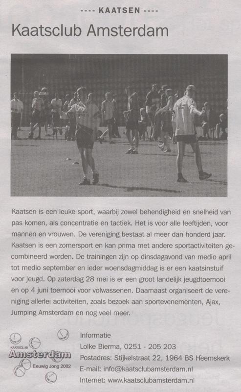 01-01-2005: Rondom Sport Geuzenveld-Slotermeer