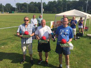 160604 2e prijs winnaars B-poule, Sieger Siderius, Berend Smit en Wopke dotinga